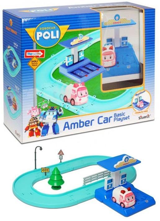 Картинки по запросу Набор маленький трек Robocar Poli с Умной машинкой Эмбер