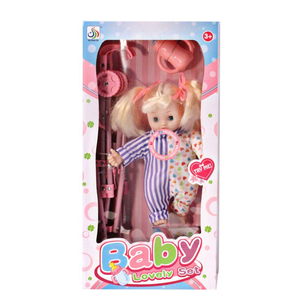 Игровой набор Кукла с коляской (звук) - JB700317   детские ...