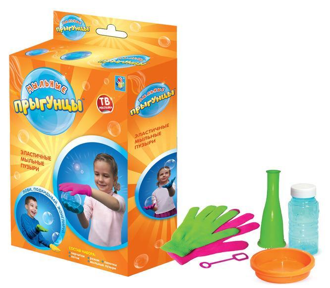Мыльные пузыри с перчатками