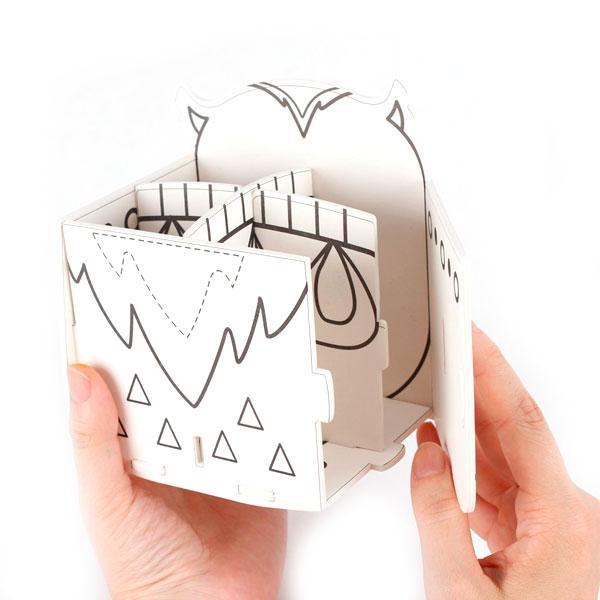 3D-пазл раскраска Сова и жираф (5 фломастеров в комплекте ...