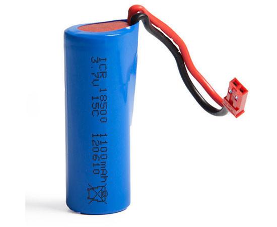 Аккумулятор LiIon 3.7V 1100mAh 18500 разъем JST - LI-ION-37-1100-JST