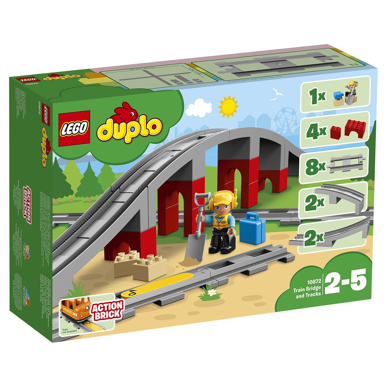 8b8ba850c56 Конструктор LEGO Duplo Town Железнодорожный мост - 10872 | детские ...